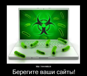 Взлом сайта вордпресс – залили вирус